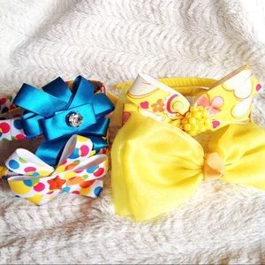Multicolor Floral and Bow Headbands Set of 4
